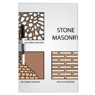 Diagramas de la albañilería de piedra pizarras blancas de calidad