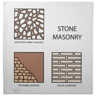 Diagramas de la albañilería de piedra servilletas de papel