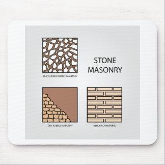 Diagramas de la albañilería de piedra tapetes de ratón
