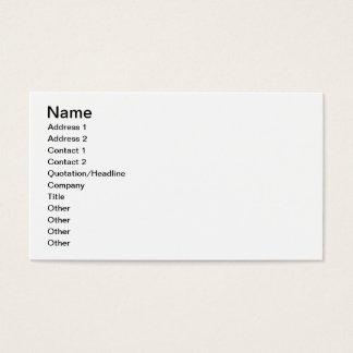 Diagramas de las medidas y del texto (vitela) tarjetas de visita