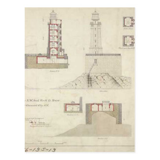 Diagramas esquemáticos del faro del filón de San Postal