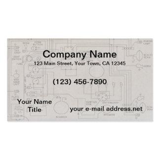 Diagramas esquemáticos plantillas de tarjeta de negocio