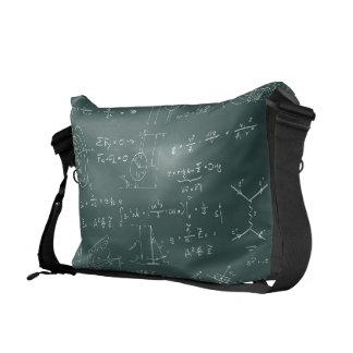 Diagramas y fórmulas de la física bolsa de mensajeria