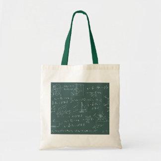 Diagramas y fórmulas de la física bolsa tela barata