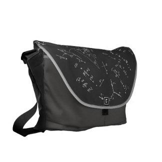 Diagramas y fórmulas de la física bolsas de mensajería
