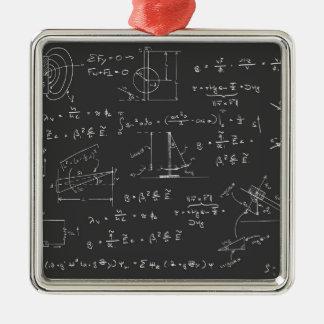 Diagramas y fórmulas de la física ornaments para arbol de navidad