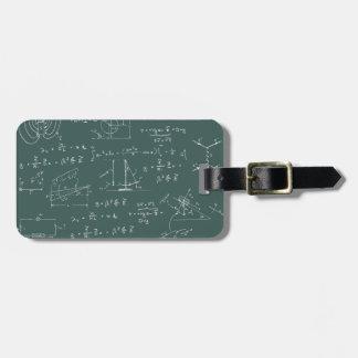 Diagramas y fórmulas de la física etiquetas bolsas