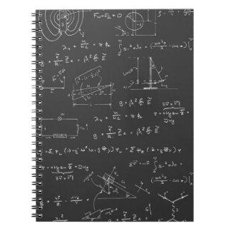 Diagramas y fórmulas de la física libro de apuntes con espiral