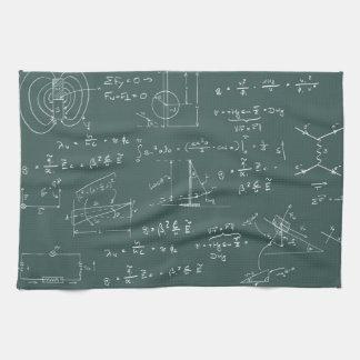 Diagramas y fórmulas de la física toallas de cocina