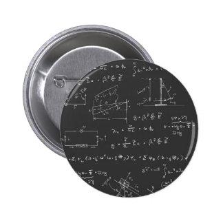Diagramas y fórmulas de la física pin redondo de 2 pulgadas