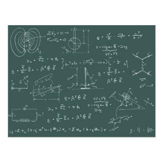 Diagramas y fórmulas de la física postal