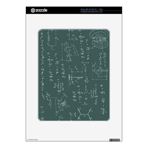 Diagramas y fórmulas de la física calcomanía para el iPad