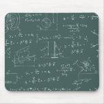 Diagramas y fórmulas de la física alfombrillas de ratón