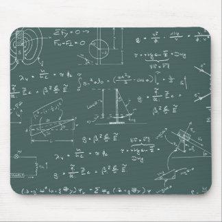 Diagramas y fórmulas de la física tapetes de raton