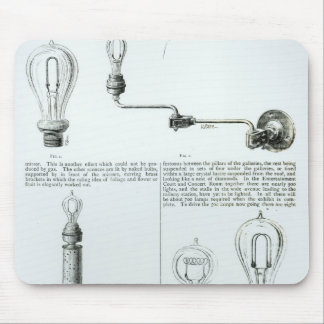 Diagrams of lightbulbs and their brackets mouse pad