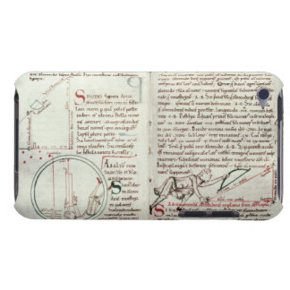 Diagrams of measurements and text (vellum) iPod touch cover