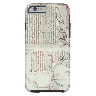Diagrams of measurements and text (vellum) tough iPhone 6 case