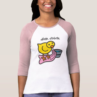 Diak Chick with Towel and Basin T-Shirt