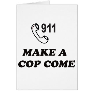 DIAL 911 CARD