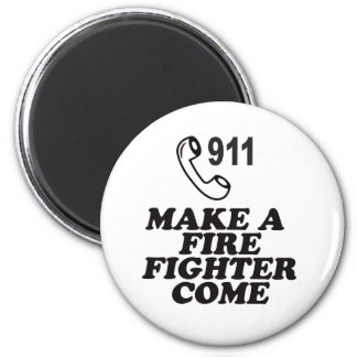 DIAL 911 FIRE 2 INCH ROUND MAGNET