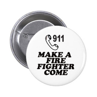 DIAL 911 FIRE 2 INCH ROUND BUTTON