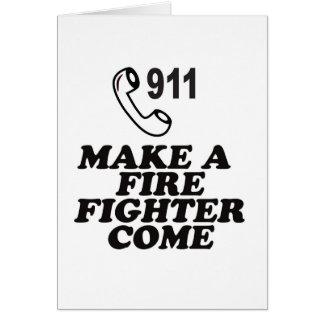 DIAL 911 FIRE CARD