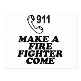 DIAL 911 FIRE POSTCARD