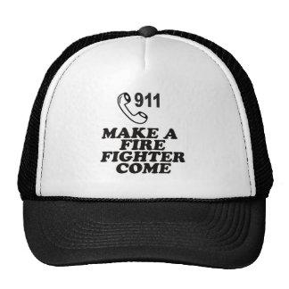 DIAL 911 FIRE TRUCKER HAT