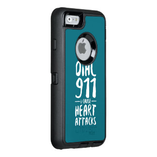 Dial 911 I Cause Blue OtterBox Defender iPhone Case