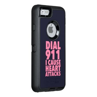Dial 911 I Cause Pink OtterBox iPhone 6/6s Case