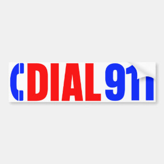 Dial 911 Police Sticker 3