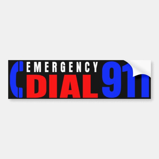Dial 911 Police Sticker 4