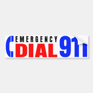 Dial 911 Police Sticker 5