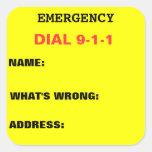 Dial 911 Sticker