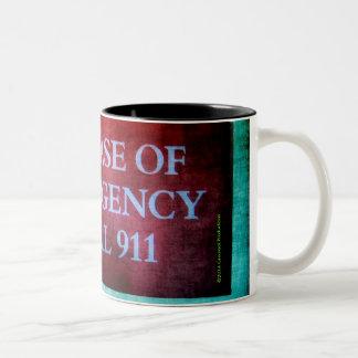 Dial 911 Two-Tone coffee mug