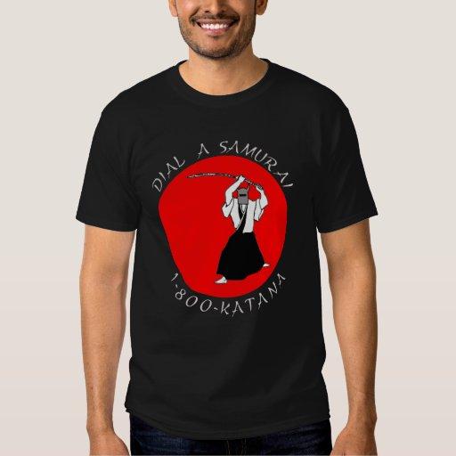 Dial a Samurai Dark Tshirt