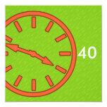 Dial análogo de la cara de reloj de la colección anuncios