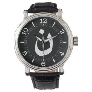 Dial cristiano del espiritual de la cruz del reloj