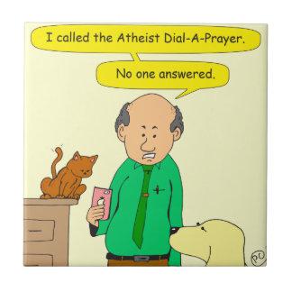 dial de 756 ateos un rezo azulejo cuadrado pequeño