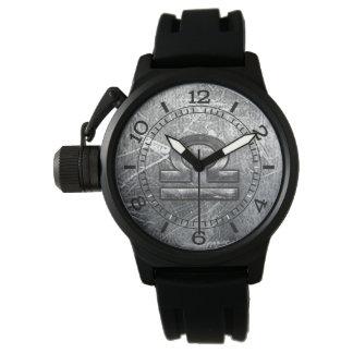 Dial de acero apenado símbolo del zodiaco del relojes de mano
