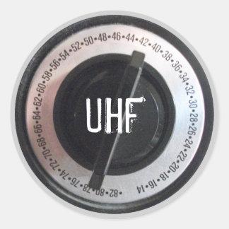Dial de la frecuencia ultraelevada pegatina redonda