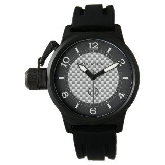 Dial de plata personalizado del estilo de la fibra reloj