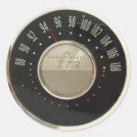 Dial de radio del vintage pegatina redonda