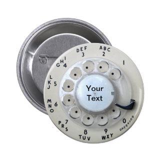 Dial de teléfono rotatorio poner crema