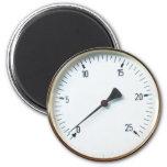 Dial del indicador de presión del vapor iman de nevera