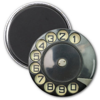 dial disk vintage retro phone number disc rotary magnet