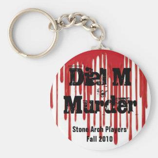 Dial M for Murder Basic Round Button Keychain