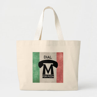 Dial M for PIZZA parody Large Tote Bag