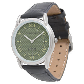 Dial personalizado de la fibra de carbono del relojes