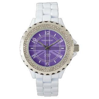 Dial púrpura personalizado del diseño de Union Relojes De Pulsera